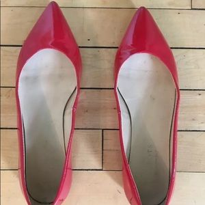 Red patent Talbots flats size 8